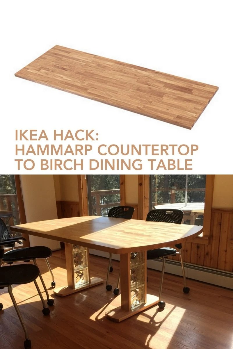 Birch Dining Table From Hammarp Countertop Ikea Hackers