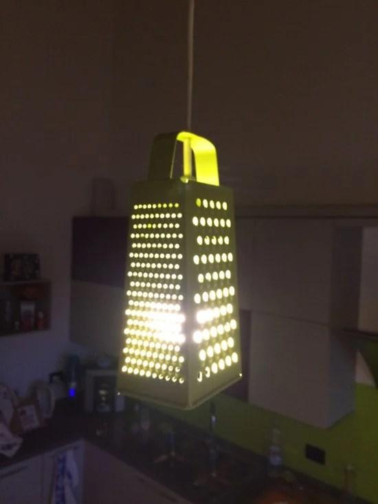 Make this unusual kitchen lamp
