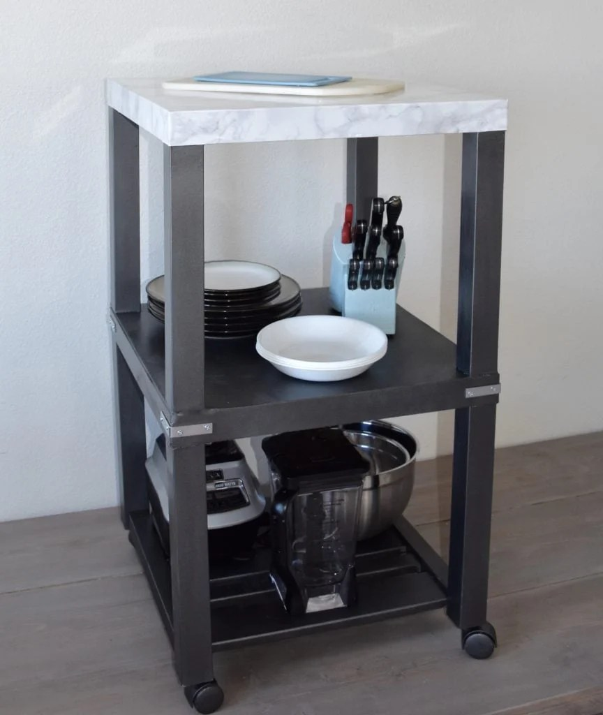 Lovely Small kitchen island from IKEA LACK side tables