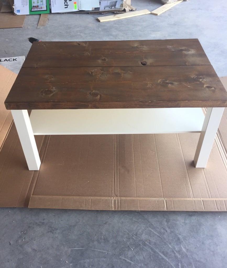 Nice IKEA LACK rustic coffee table diy