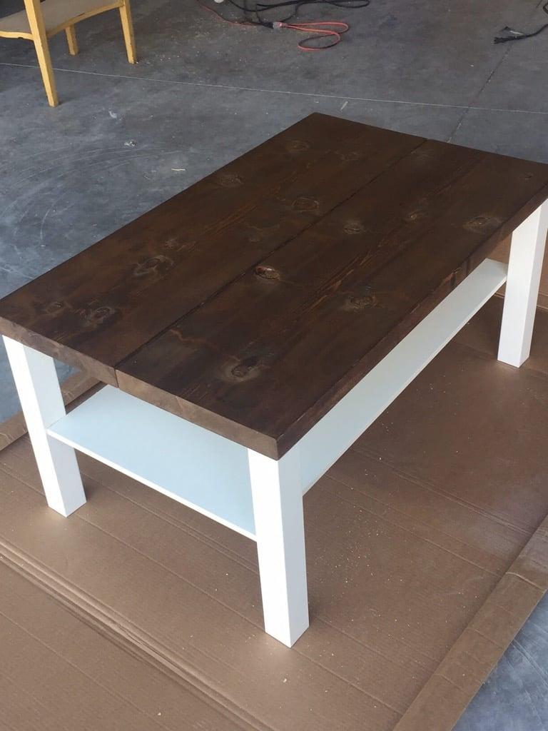 Unique IKEA LACK rustic coffee table diy