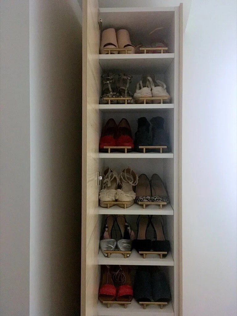 Superbe DIY Shoe Cabinet Tall And Narrow For The Entryway