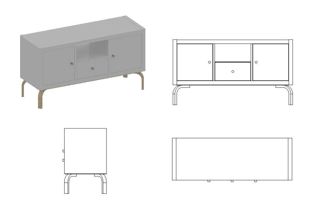 Modern TV Stand from KALLAX + FROSTA