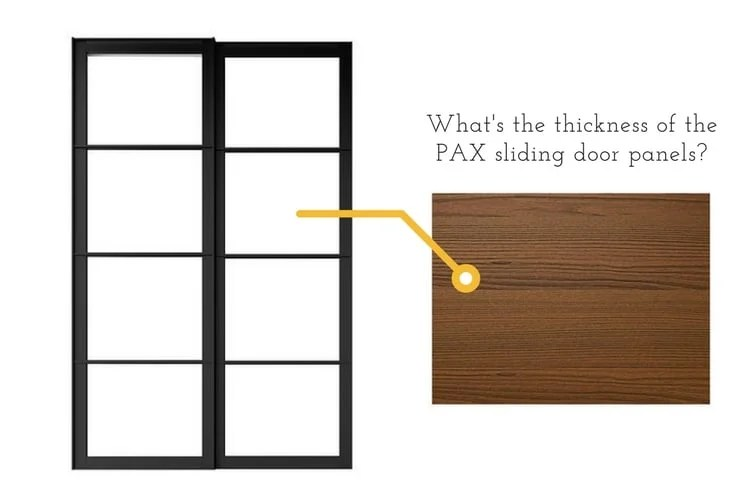 PAX sliding door panels - how thick