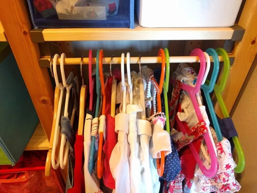 Simple No Screw Kids Clothes Rack On Ivar Ikea Hackers