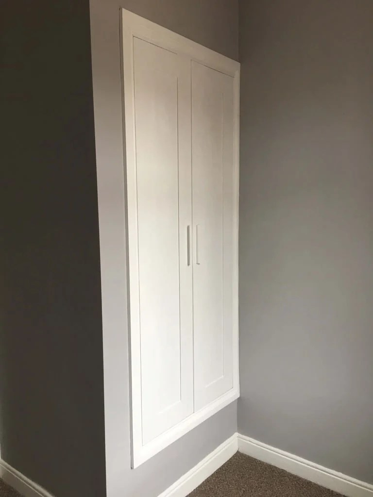 BRIMNES built-in closet to replace old awkward cupboard