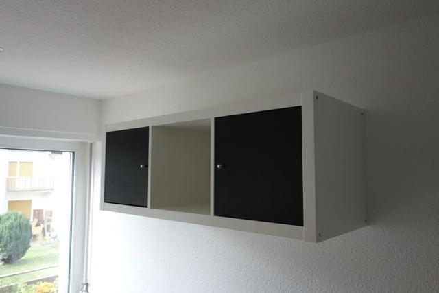kitchenette with ikea kallax ikea hackers. Black Bedroom Furniture Sets. Home Design Ideas
