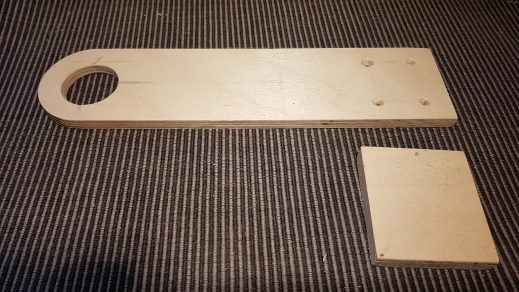 plywood for wardrobe light holder