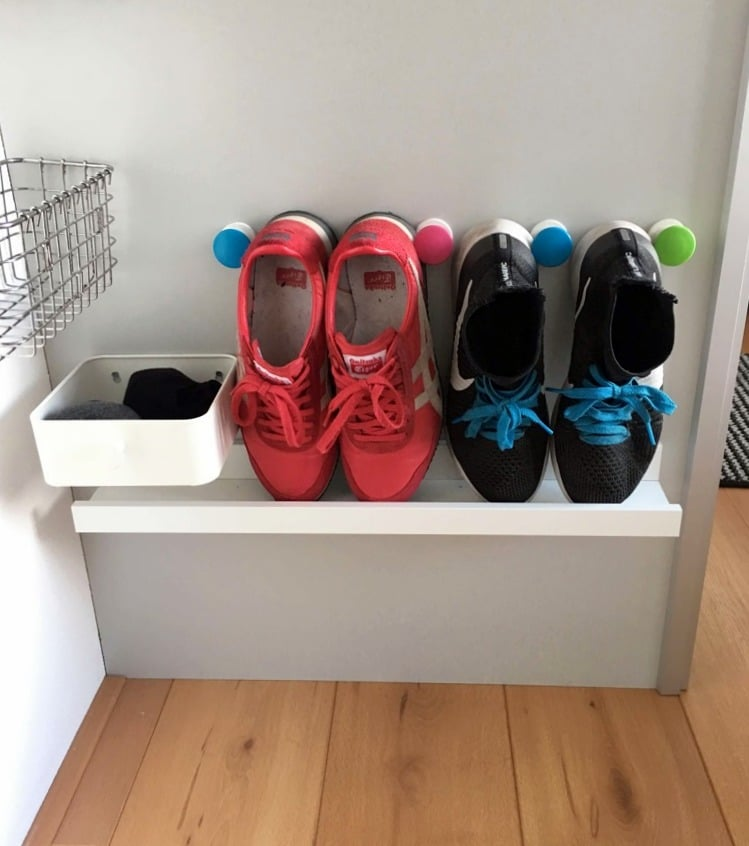 Shoe Organization Hacks: Shoe Shelf For Small Spaces