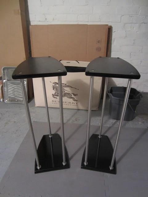 grundtal lightweight speaker stands 3 different sizes ikea hackers. Black Bedroom Furniture Sets. Home Design Ideas