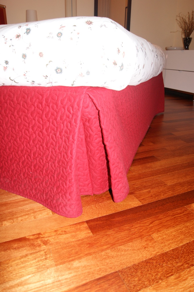 Padded Headboard Of The Bed With Bedspread Alina Ikea