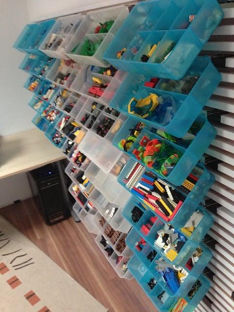 LEGO storage wall