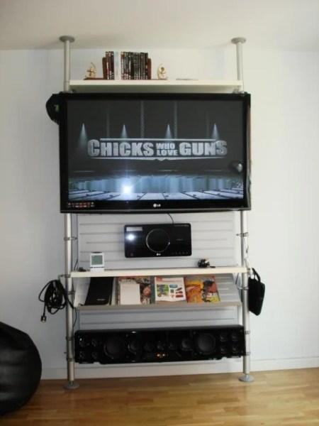 stolmen plasma tv gadget mount ikea hackers. Black Bedroom Furniture Sets. Home Design Ideas