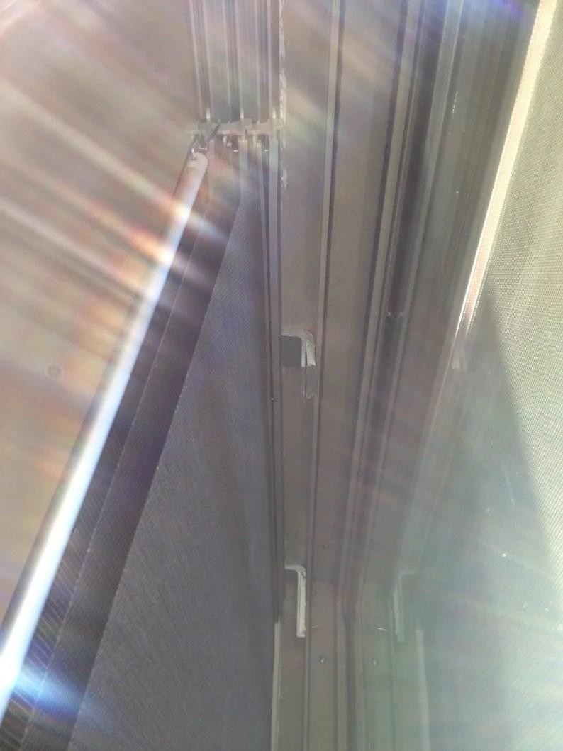 Kvartal Panels Mounted Inside A Sliding Glass Door Ikea