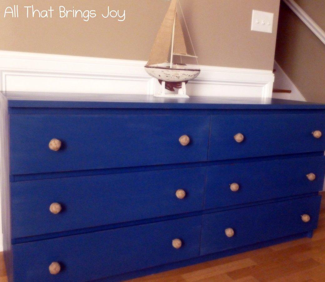 Malm 6 Drawer Dresser Goes Nautical Ikea Hackers