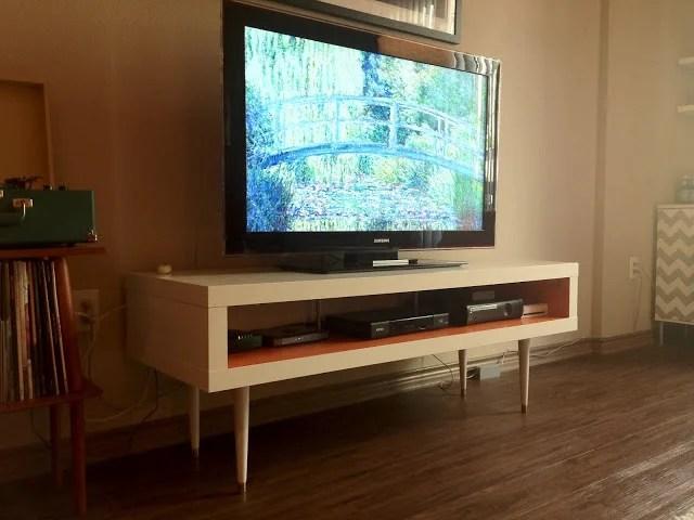 TV unit mid century orange