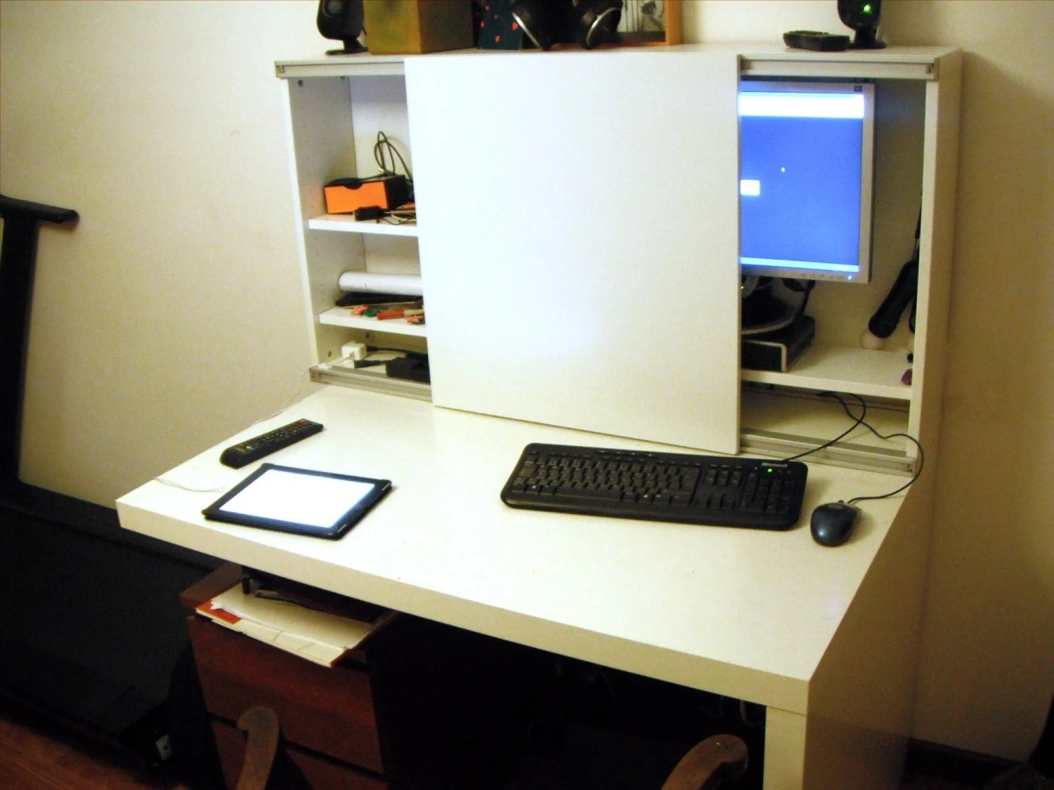 Besta Expedit Computer Desk Ikea Hackers