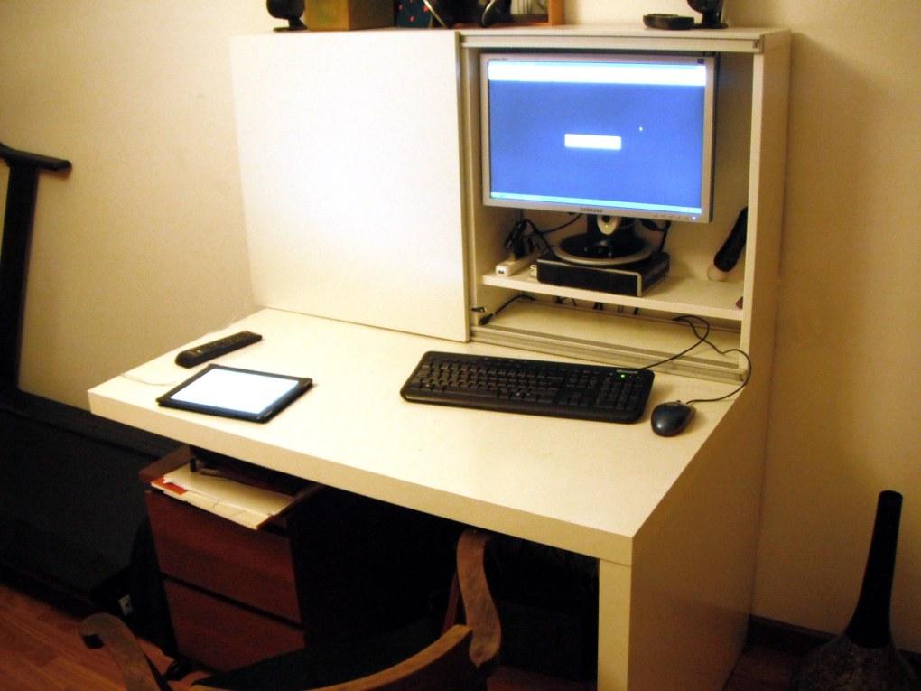 Besta Expedit Computer Desk Ikea Hackers