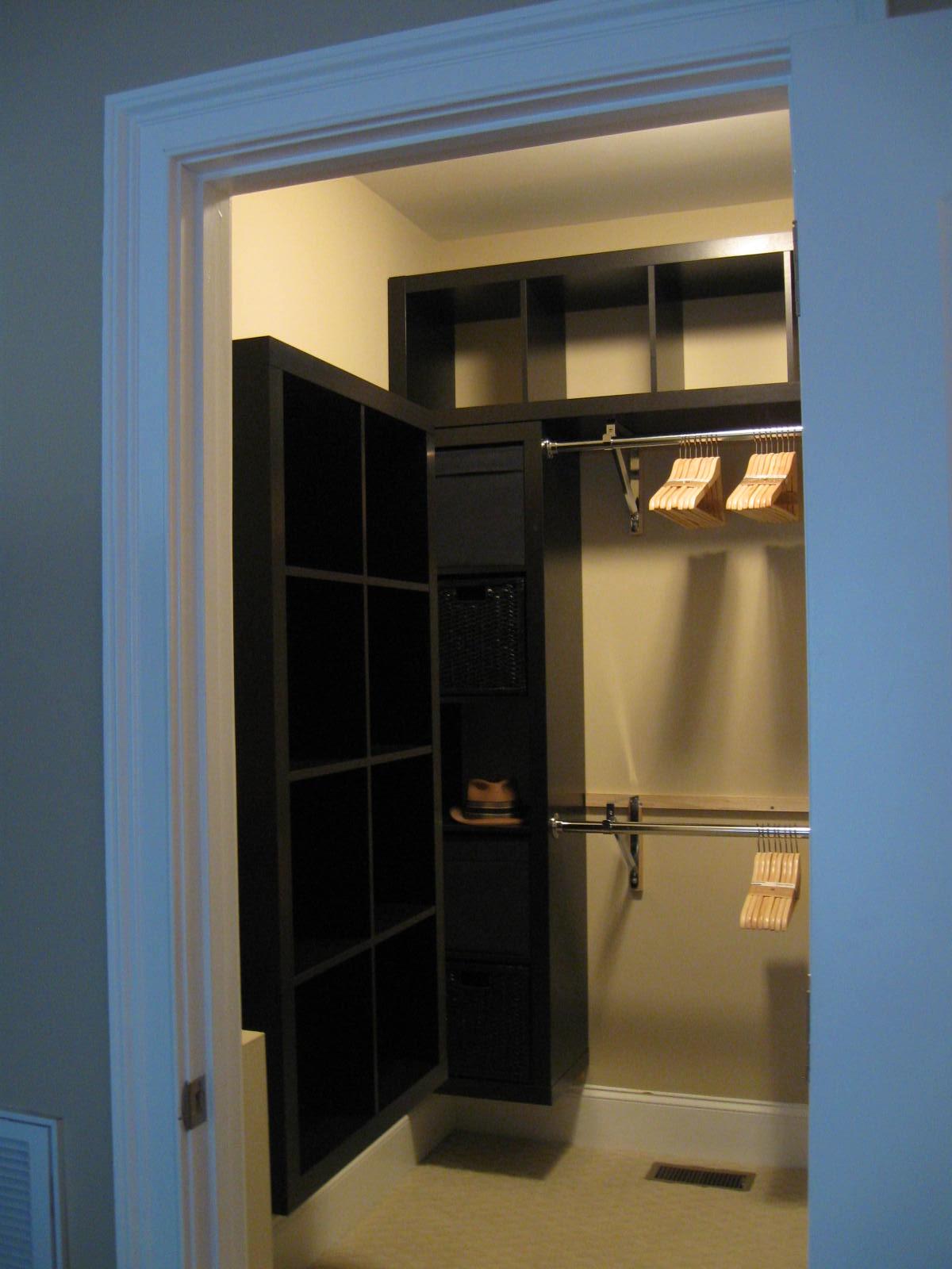 Materials: Expedit 1×5 (2), Expedit 2×4 (2), Lack Wall Shelf (43.25u2033), 1×2u2033  Cleats, Closet Rod / Shelf Brackets (4), Closet Rods (2), Closet Rod Flange  Set ...