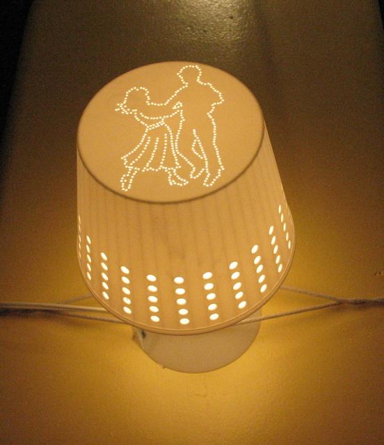 Cross Stitch Table Lamp Ikea Lampan Upgrade Ikea Hackers