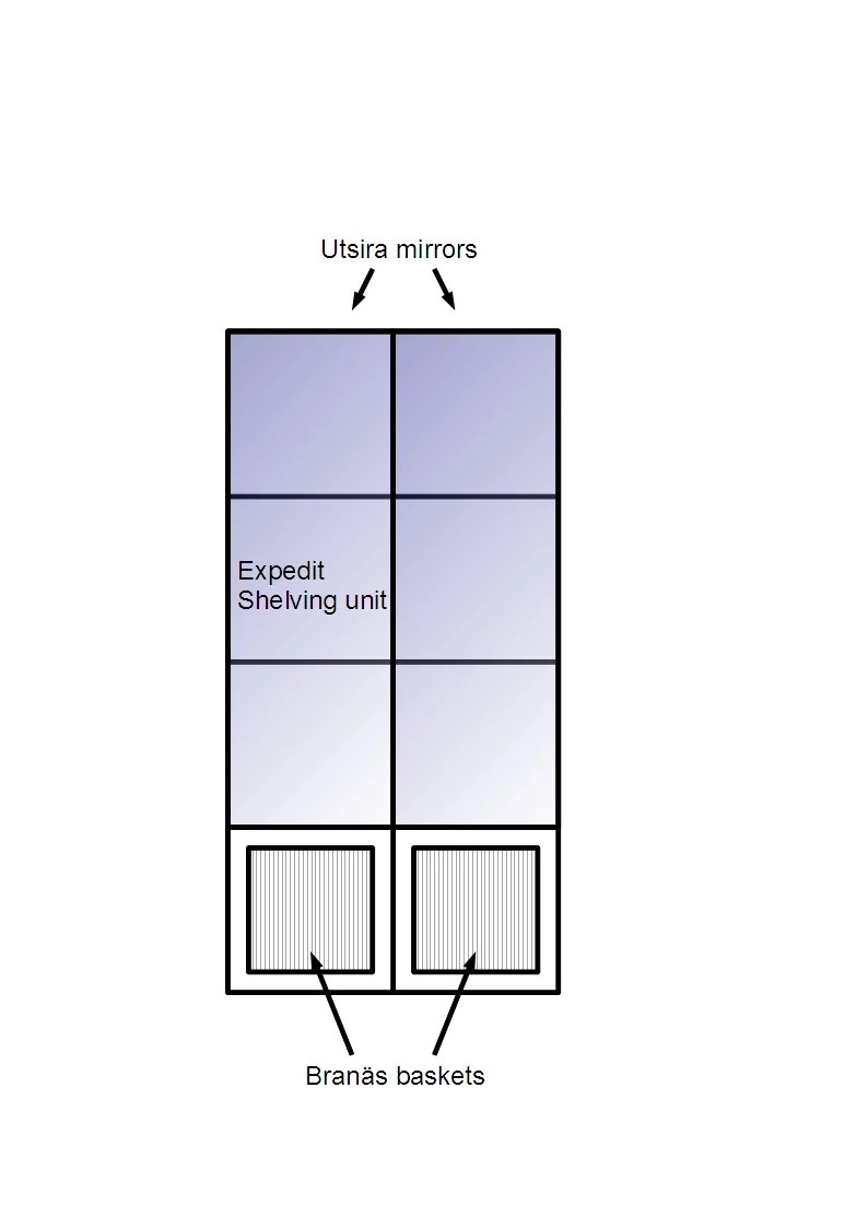 Hacker Help Can I Fix Mirrors On Expedit As Doors Ikea Hackers