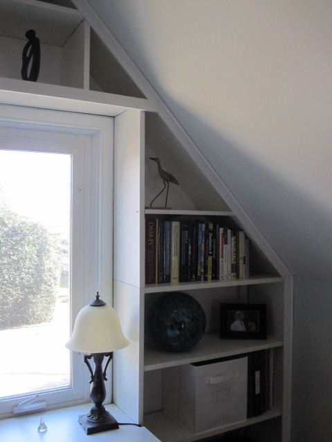 Bright Built In Office Nook From Reused Ikea Pieces Ikea Hackers