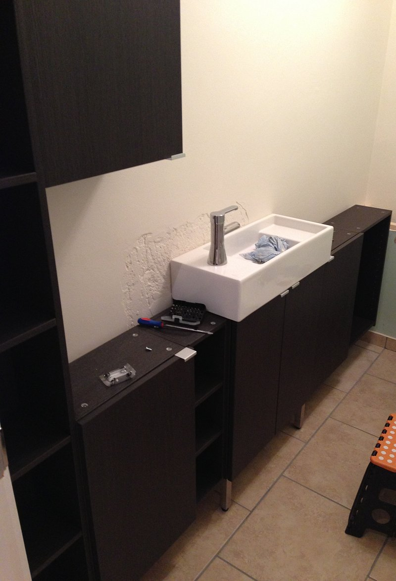 Narrow bathroom units ikea hackers - Narrow bathroom sinks and vanities ...