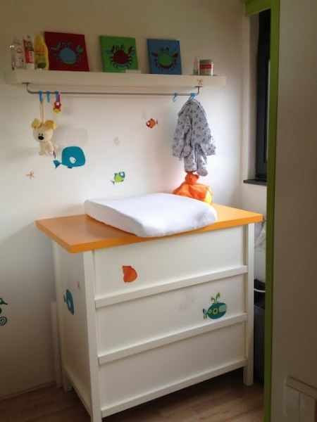 IKEA Nursery changing station
