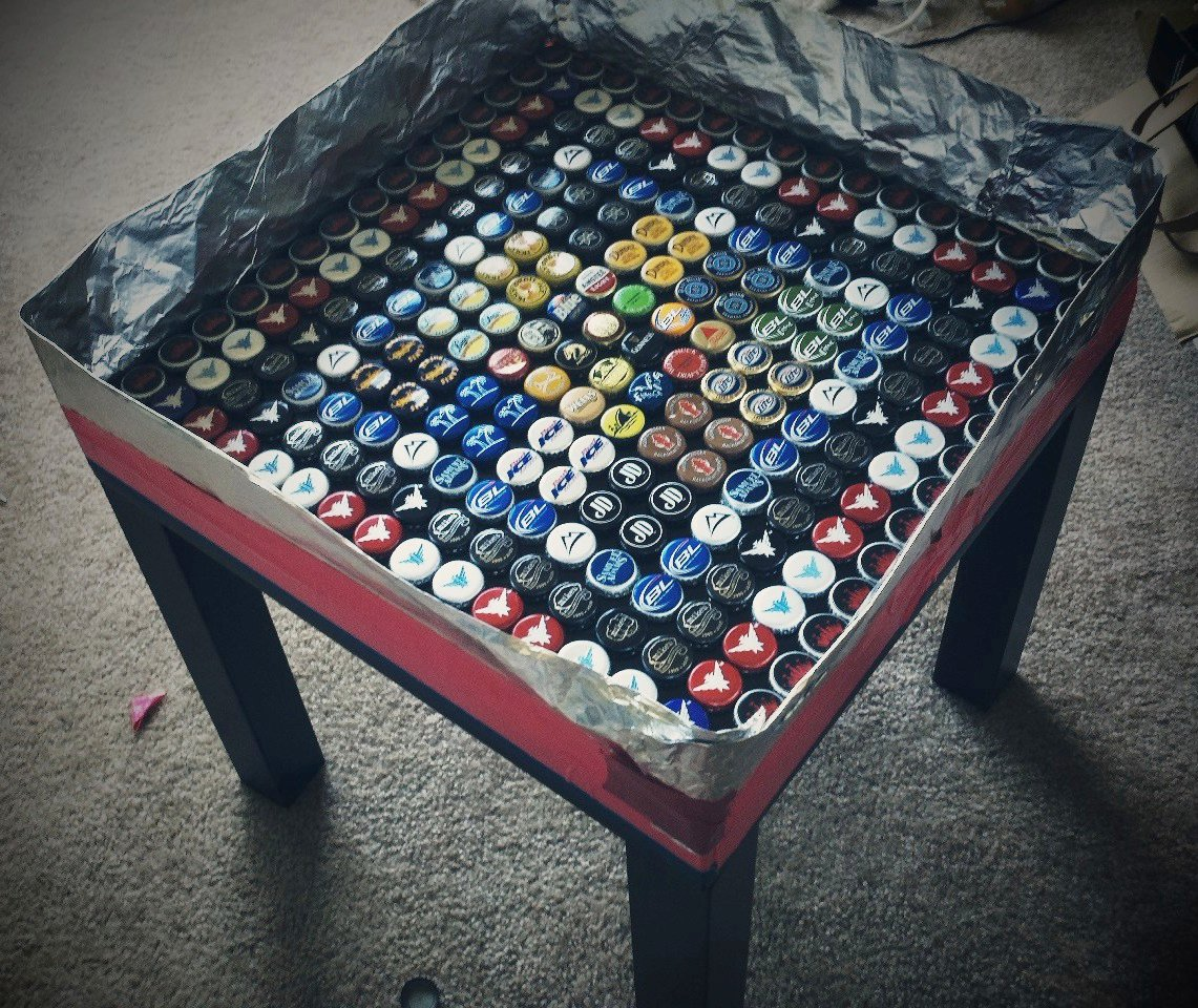Lack Bottlecap Table Ikea Hackers