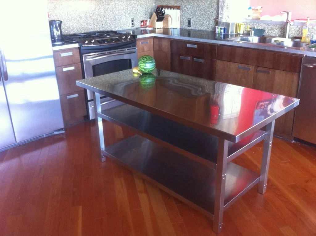 Stainless Steel Kitchen Island Cart - IKEA Hackers