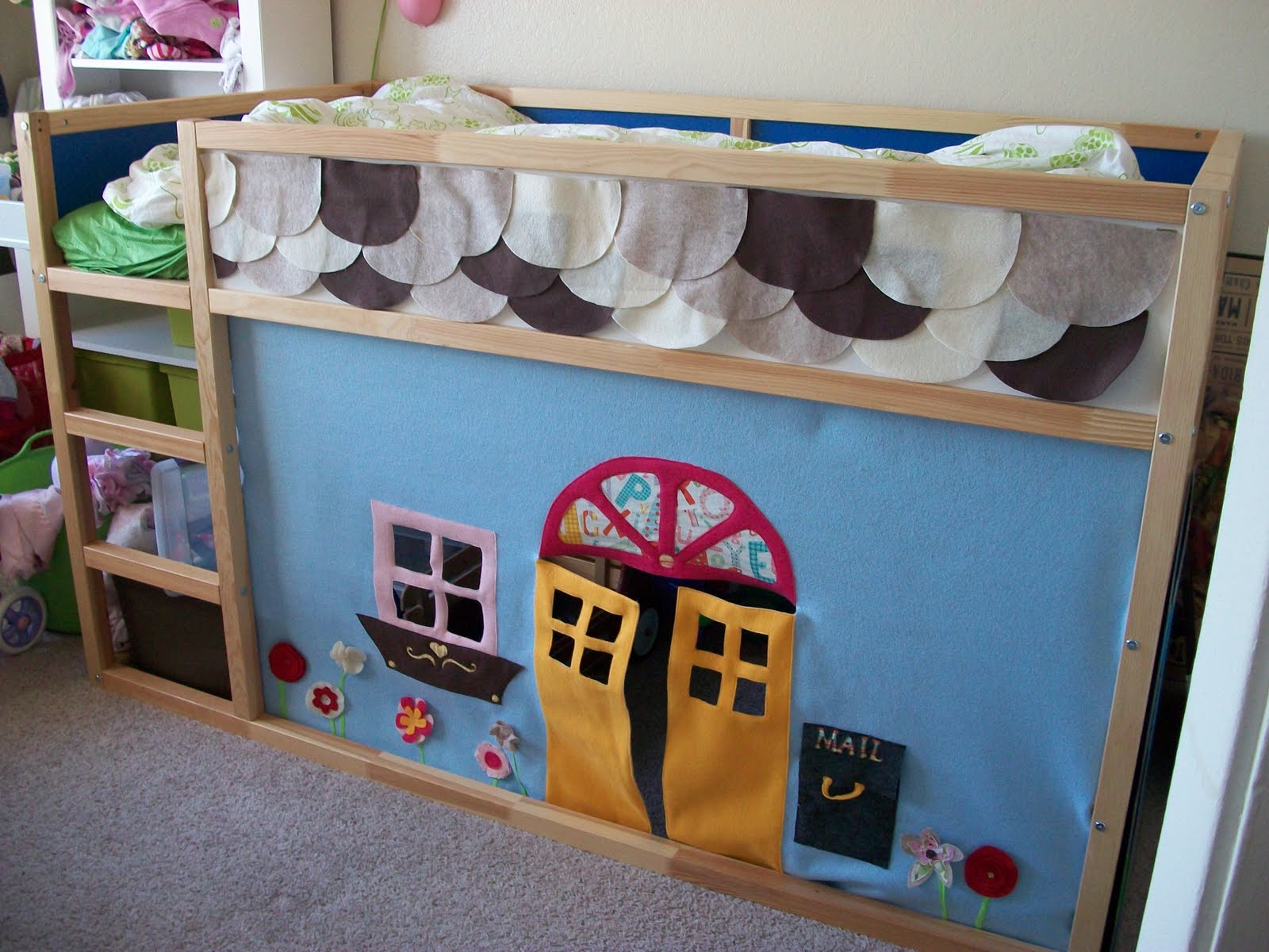 An Ikea Kura bed felt playhouse IKEA Hackers