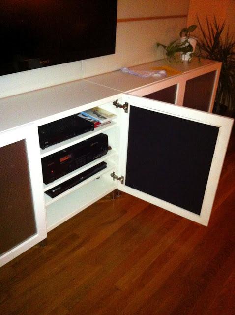 Cool Speaker Friendly Besta Doors Hack Ikea Hackers