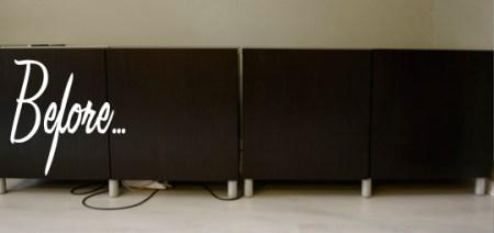 IKEA vintage wood Besta cabinet