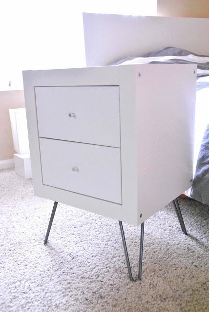 expedit wall shelf into nightstand ikea hackers. Black Bedroom Furniture Sets. Home Design Ideas