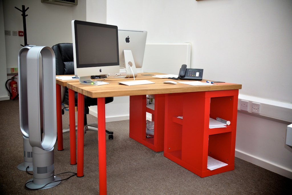 Solid Oak Desk For A Designer Ikea Hackers