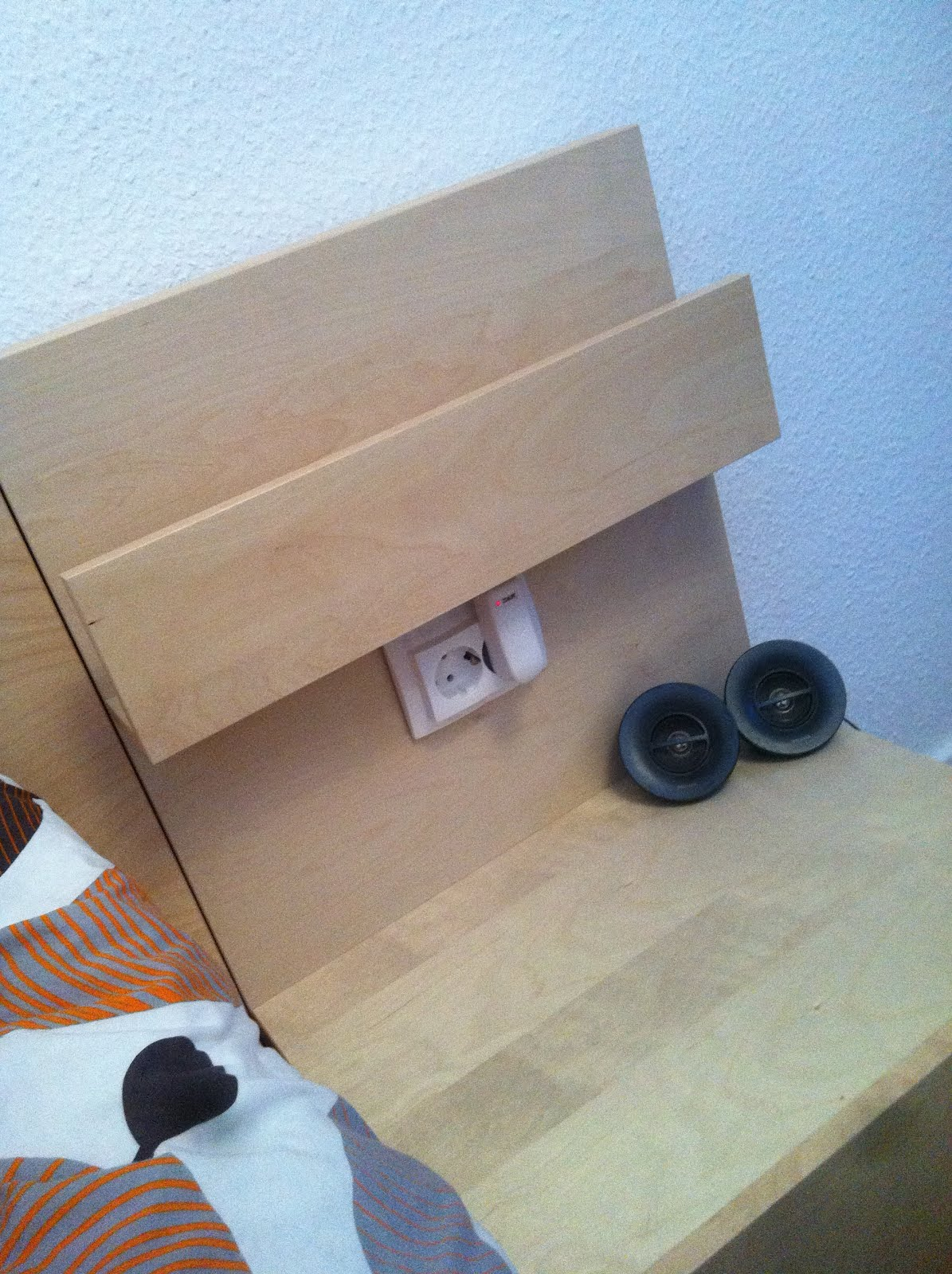 Socket In The Malm Nightstand Ikea Hackers