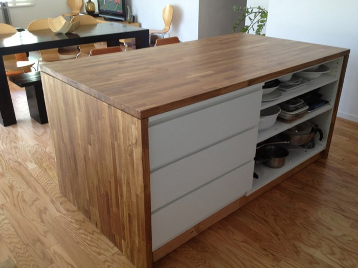 Malm Meets Numerar Kitchen Island Ikea Hackers