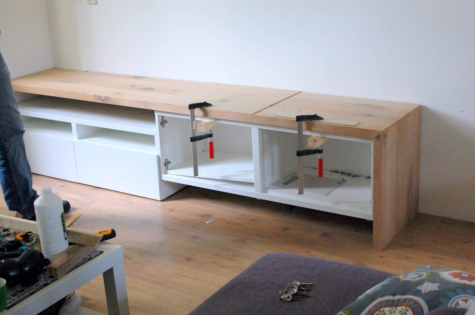 Besta Tv Stand With Seating Option Ikea Hackers