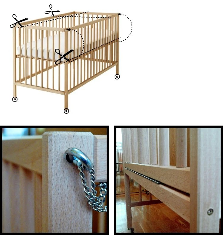 SNIGLAR Co Sleeper Crib