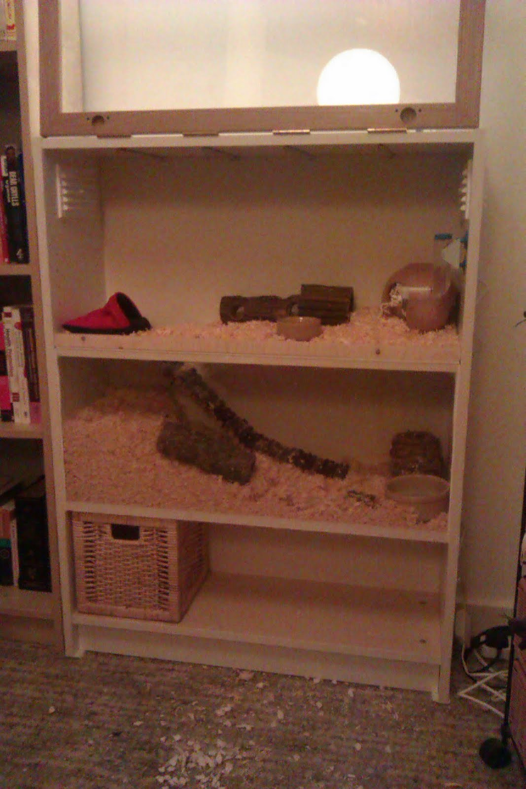 Make your own two storey hamster apartment ikea hackers for Guinea pig dresser cage