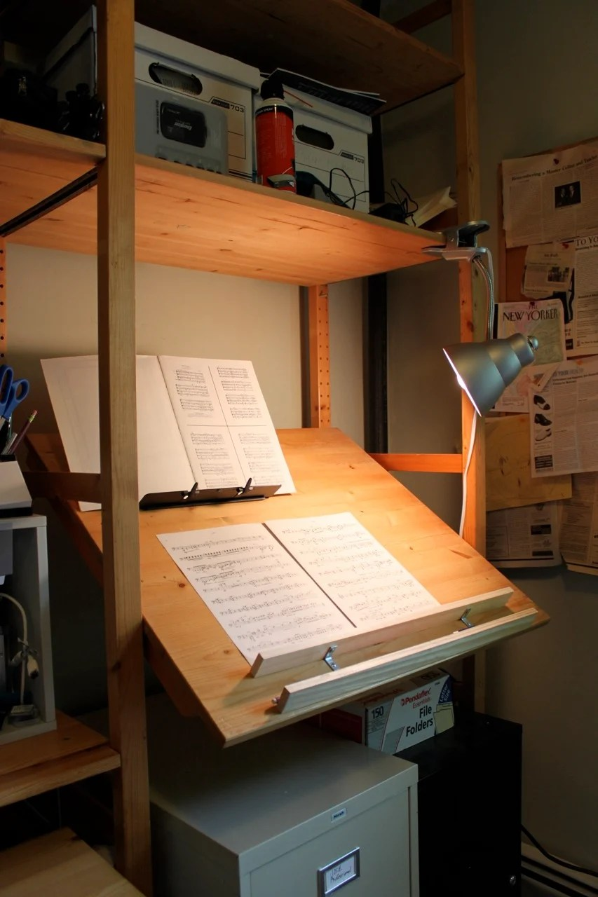 Ivar stand up music cueing desk drafting table ikea hackers - Drafting table ikea ...