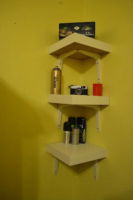 Lack Table Corner Shelf Hack - IKEA Hackers