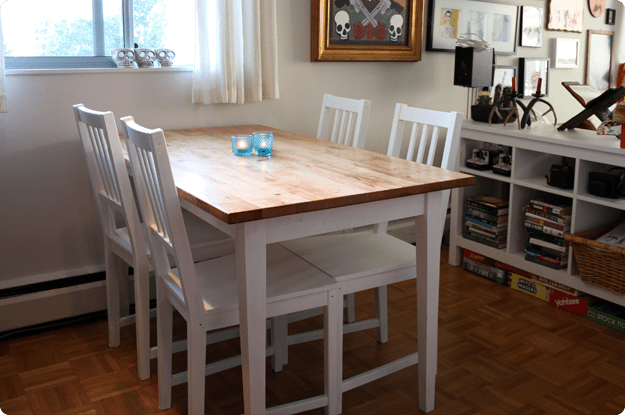 Bj 214 Rkudden Modern Harvest Table Ikea Hackers
