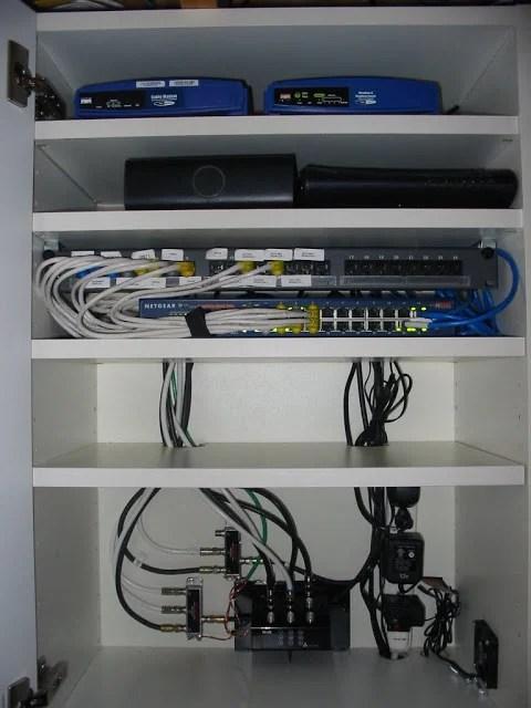 Diy Home Network Rack : network, Never, Again, Discreet, Network, Cabinet., Hackers