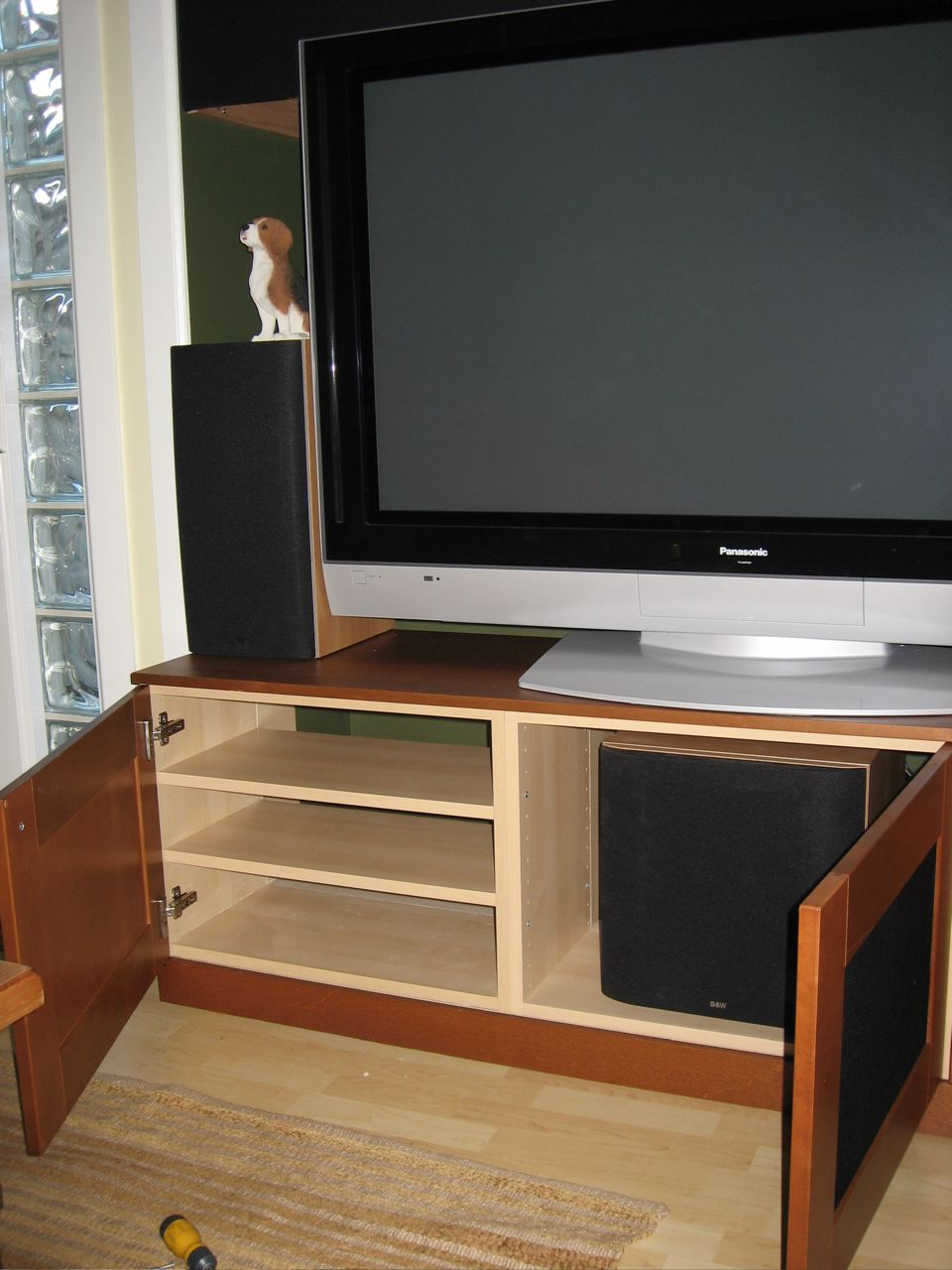 Tv Unit With Subwoofer Space Ikea Hackers