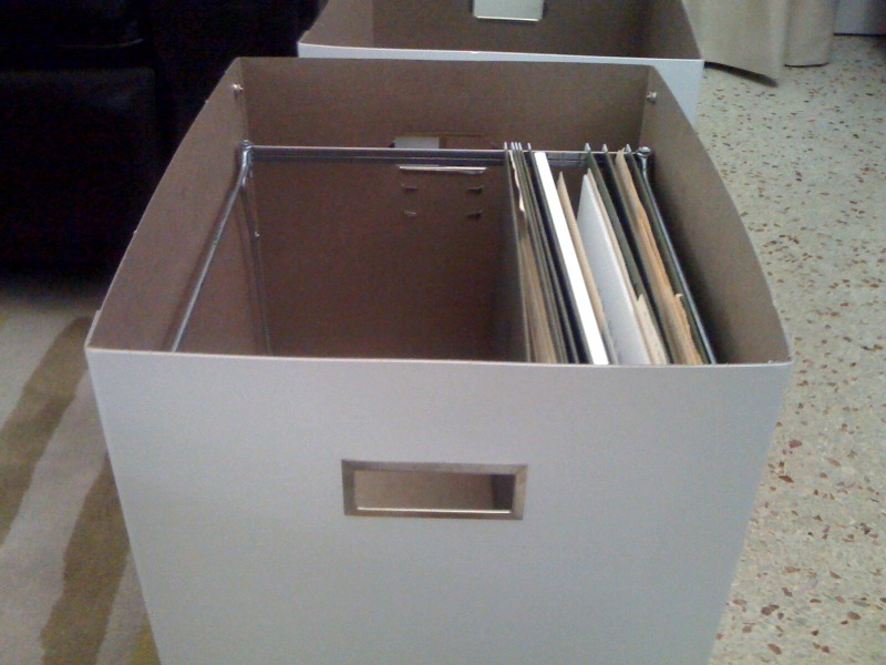 hanging file boxes ikea hackers