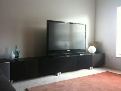 BESTÅ TV stand with speaker cloth
