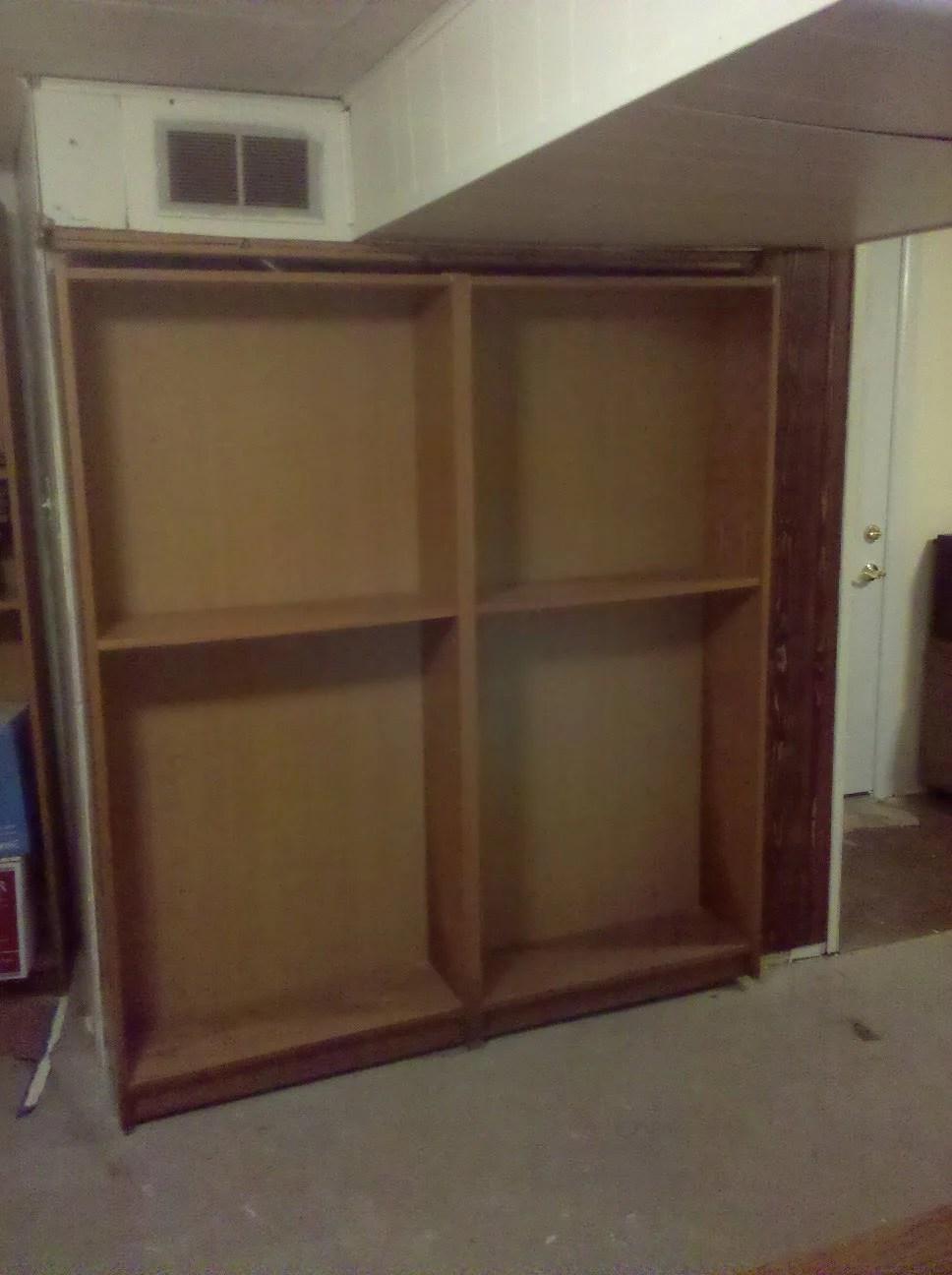Billy Bookcase Door Hides Furnace Or Closet Or Secret Room