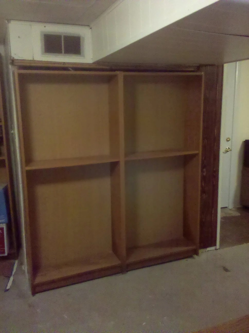 Billy Bookcase Door Hides Furnace Or Closet Or Secret Room