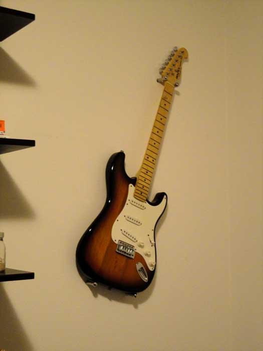 I Was A Rockstar Hanging Guitar Ikea Hackers